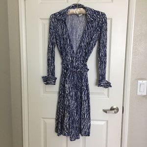 DVF print wrap dress